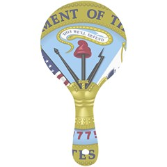 Emblem Of United States Department Of Army Mini Wooden Mirror