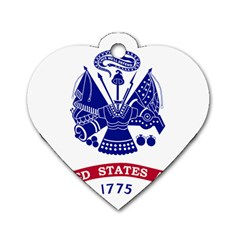 Flag Of United States Department Of Army  Dog Tag Heart (two Sides) by abbeyz71