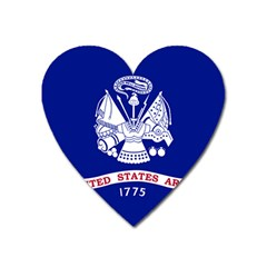 Field Flag Of United States Department Of Army Heart Magnet by abbeyz71