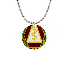 United States Army Dental Command Insignia 1  Button Necklace