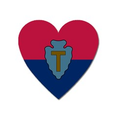 Flag Of United States Army 36th Infantry Division Heart Magnet by abbeyz71