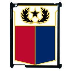Coat Of Arms Of Texas Army National Guard Apple Ipad 2 Case (black) by abbeyz71