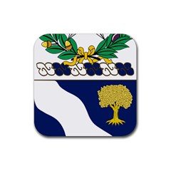 Coat Of Arms Of United States Army 143rd Infantry Regiment Rubber Square Coaster (4 Pack)