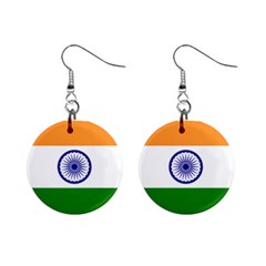 Flag Of India Mini Button Earrings