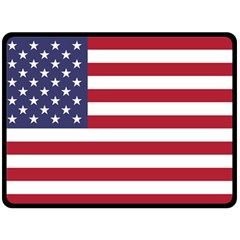 Flag Of The United States Of America  Fleece Blanket (large)  by abbeyz71