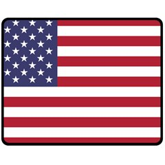 Flag Of The United States Of America  Double Sided Fleece Blanket (medium)  by abbeyz71