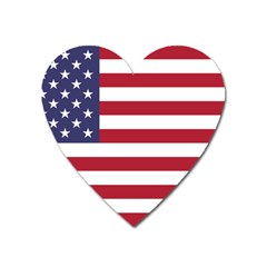Flag Of The United States Of America  Heart Magnet by abbeyz71