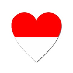 Flag Of Indonesia Heart Magnet by abbeyz71