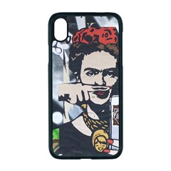 Frida Kahlo Brick Wall Graffiti Urban Art With Grunge Eye And Frog  Iphone Xr Seamless Case (black) by snek