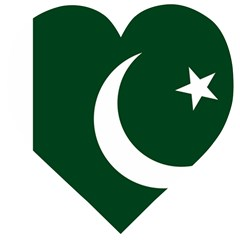 Flag Of Pakistan Wooden Puzzle Heart
