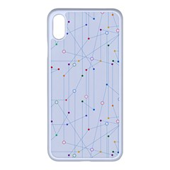 Circuit Board White Iphone Xs Max Seamless Case (white)