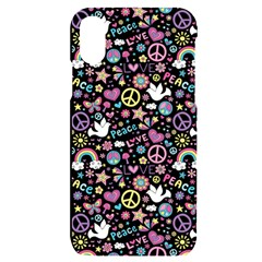 Peace Symbols Iphone X/xs Black Uv Print Case