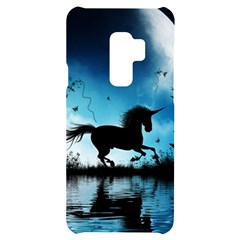Wonderful Unicorn Silhouette In The Night Samsung S9 Plus Black Uv Print Case by FantasyWorld7