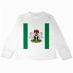 Flag Of Nigeria  Kids Long Sleeve T-shirts by abbeyz71
