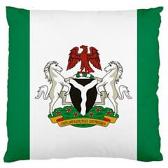 Flag Of Nigeria  Large Flano Cushion Case (two Sides) by abbeyz71