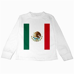 Flag Of Mexico Kids Long Sleeve T-shirts by abbeyz71