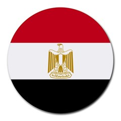 Flag Of Egypt Round Mousepads by abbeyz71