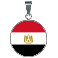 Flag Of Egypt 25mm Round Necklace