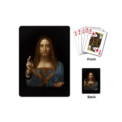 Salvator Mundi Leonardo Davindi 1500 Jesus Christ Savior Of The World Original Paint Most Expensive In The World Playing Cards Single Design (mini)