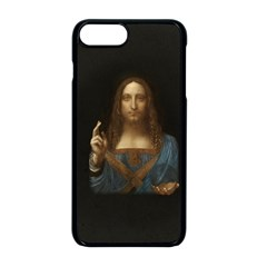 Salvator Mundi Leonardo Davindi 1500 Jesus Christ Savior Of The World Original Paint Most Expensive In The World Iphone 8 Plus Seamless Case (black) by snek