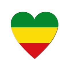 Current Flag Of Ethiopia Heart Magnet by abbeyz71