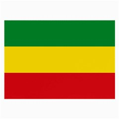Current Flag Of Ethiopia Large Glasses Cloth (2 Sides) by abbeyz71