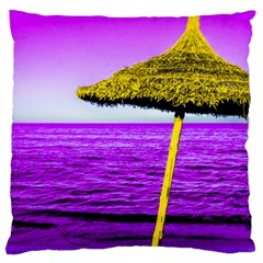 Pop Art Beach Umbrella Large Flano Cushion Case (two Sides) by essentialimage