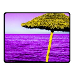 Pop Art Beach Umbrella Fleece Blanket (small)