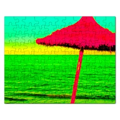 Pop Art Beach Umbrella Rectangular Jigsaw Puzzl by essentialimage