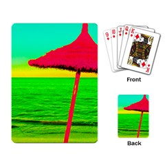 Pop Art Beach Umbrella Playing Cards Single Design (rectangle) by essentialimage
