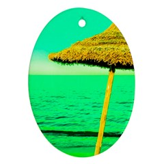 Pop Art Beach Umbrella  Ornament (oval) by essentialimage