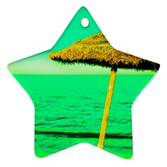 Pop Art Beach Umbrella  Star Ornament (two Sides) by essentialimage
