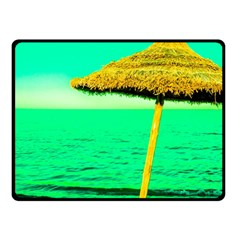 Pop Art Beach Umbrella  Double Sided Fleece Blanket (small)  by essentialimage