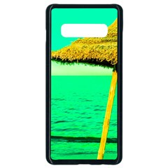 Pop Art Beach Umbrella  Samsung Galaxy S10 Plus Seamless Case (black) by essentialimage