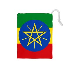 Current Flag Of Ethiopia Drawstring Pouch (medium)