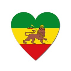 Flag Of Ethiopian Empire  Heart Magnet by abbeyz71