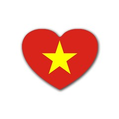 Flag Of Vietnam Rubber Coaster (heart)