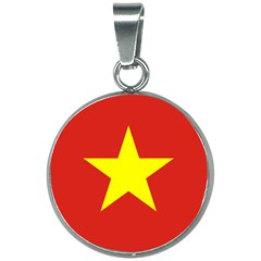 Flag Of Vietnam 20mm Round Necklace by abbeyz71