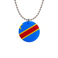 Flag Of The Democratic Republic Of The Congo 1  Button Necklace by abbeyz71