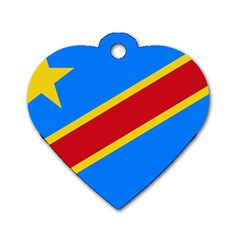 Flag Of The Democratic Republic Of The Congo Dog Tag Heart (two Sides) by abbeyz71