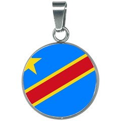 Flag Of The Democratic Republic Of The Congo 20mm Round Necklace by abbeyz71