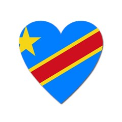 Flag Of The Democratic Republic Of The Congo Heart Magnet by abbeyz71