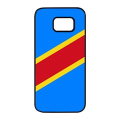 Flag Of The Democratic Republic Of The Congo, 2003 2006 Samsung Galaxy S7 Edge Black Seamless Case by abbeyz71
