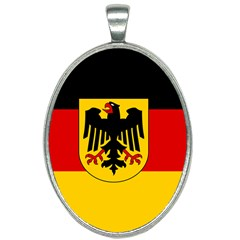 Sate Flag Of Germany  Oval Necklace by abbeyz71