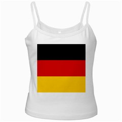 Flag Of Germany White Spaghetti Tank by abbeyz71