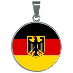 Flag Of Germany  30mm Round Necklace by abbeyz71
