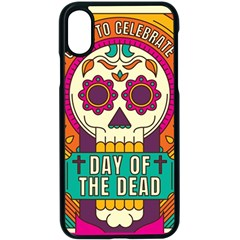 Day Of The Dead Colorful Iphone X Seamless Case (black) by trulycreative