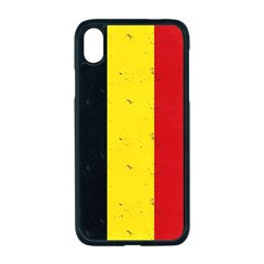 Grunge Belgium Flag Iphone Xr Seamless Case (black) by trulycreative