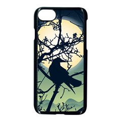 Branches Bird Moon Iphone 8 Seamless Case (black) by trulycreative