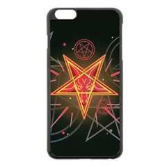 Pentagram Lucifer Iphone 6 Plus/6s Plus Black Enamel Case by trulycreative